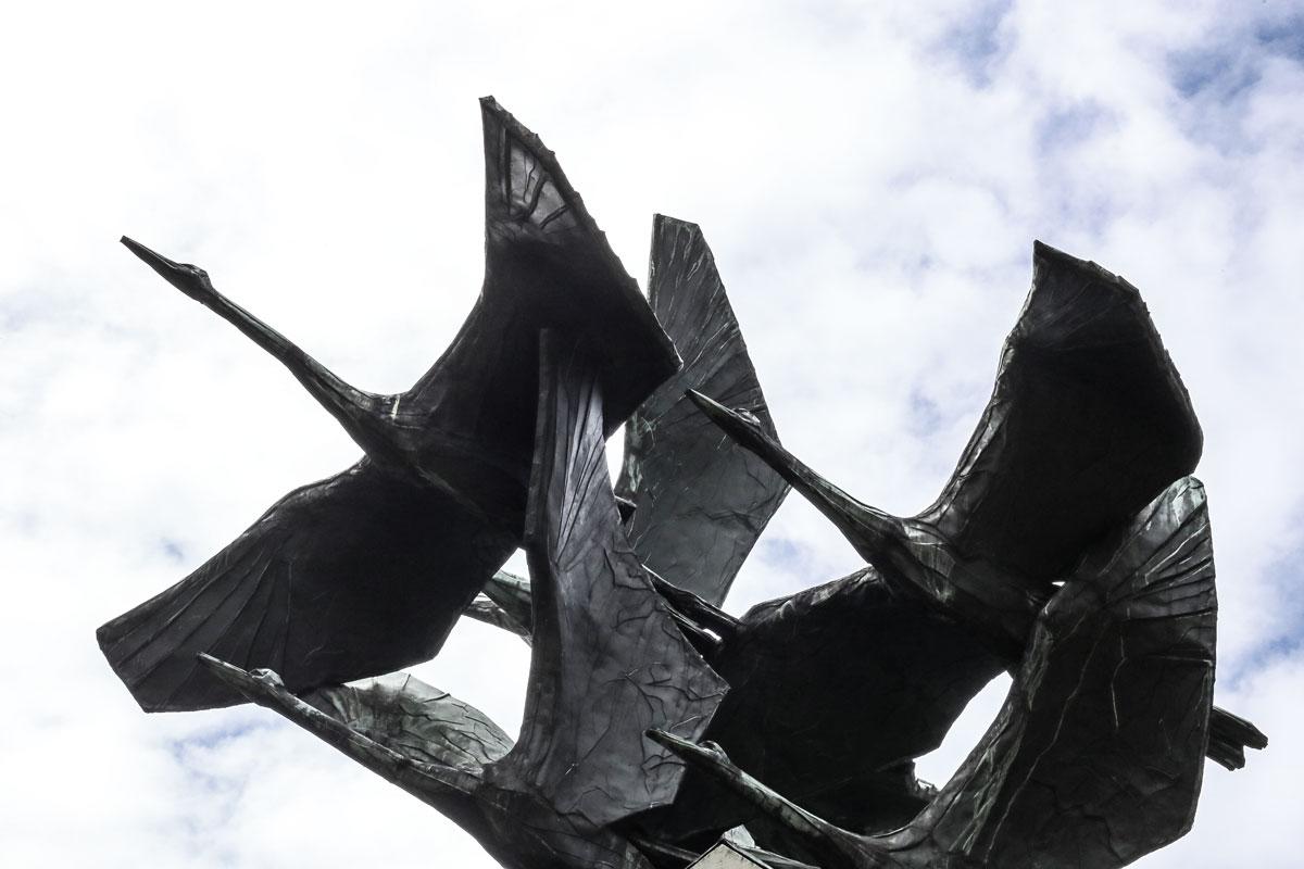 Skulptur SYMMETRIE von Gerhard Brandes, Hamburg